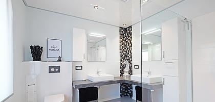 Badezimmerdecke Bad Decke renovieren - Deckengestaltung - Deckenbeleuchtung Siegen PLAMECO