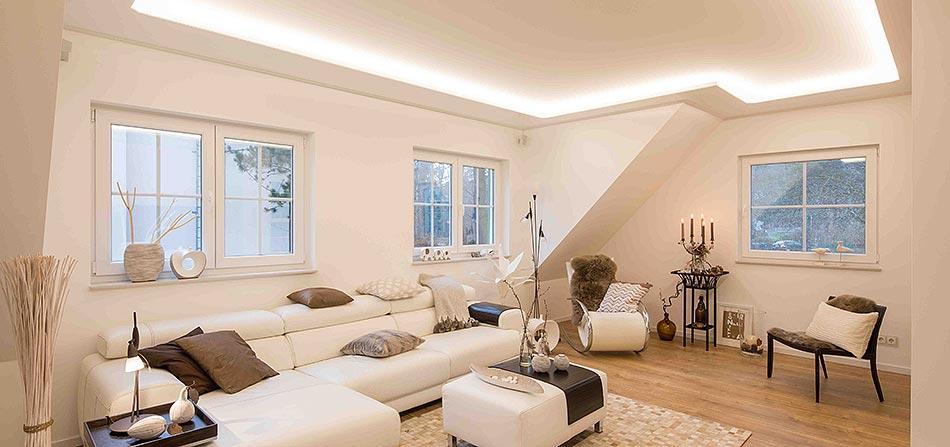 PLAMECO Lichtdecke im Wohnzimmer - PLAMECO Siegen