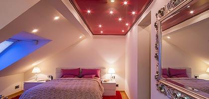 Schlafzimmerdecke renovieren gestalten - PLAMECO Deckendesign Spanndecken Siegen