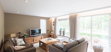 Wohnzimmerdecke renovieren neu gestalten - PLAMECO Siegen Deckenverkleidung mit Spanndecken Siegen