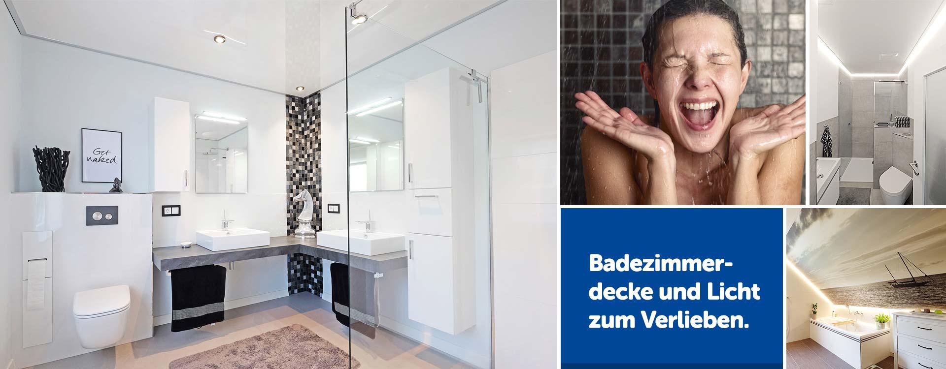 Badezimmerdecke zum Verlieben - PLAMECO-Spanndecken in Siegen
