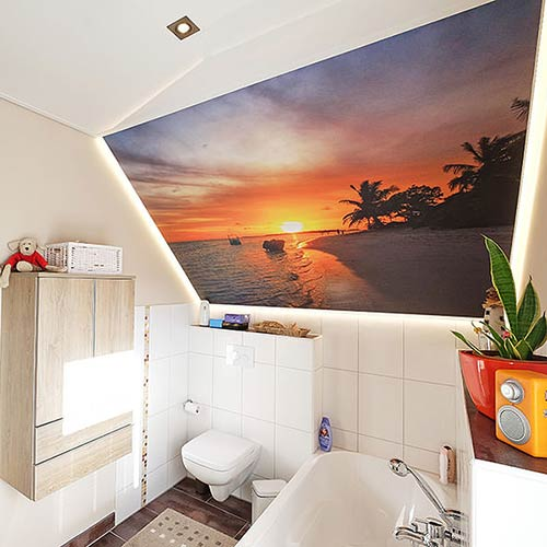 Spanndecken beispiele kundenreferenzen plameco siegen - Badezimmerdecke erneuern ...