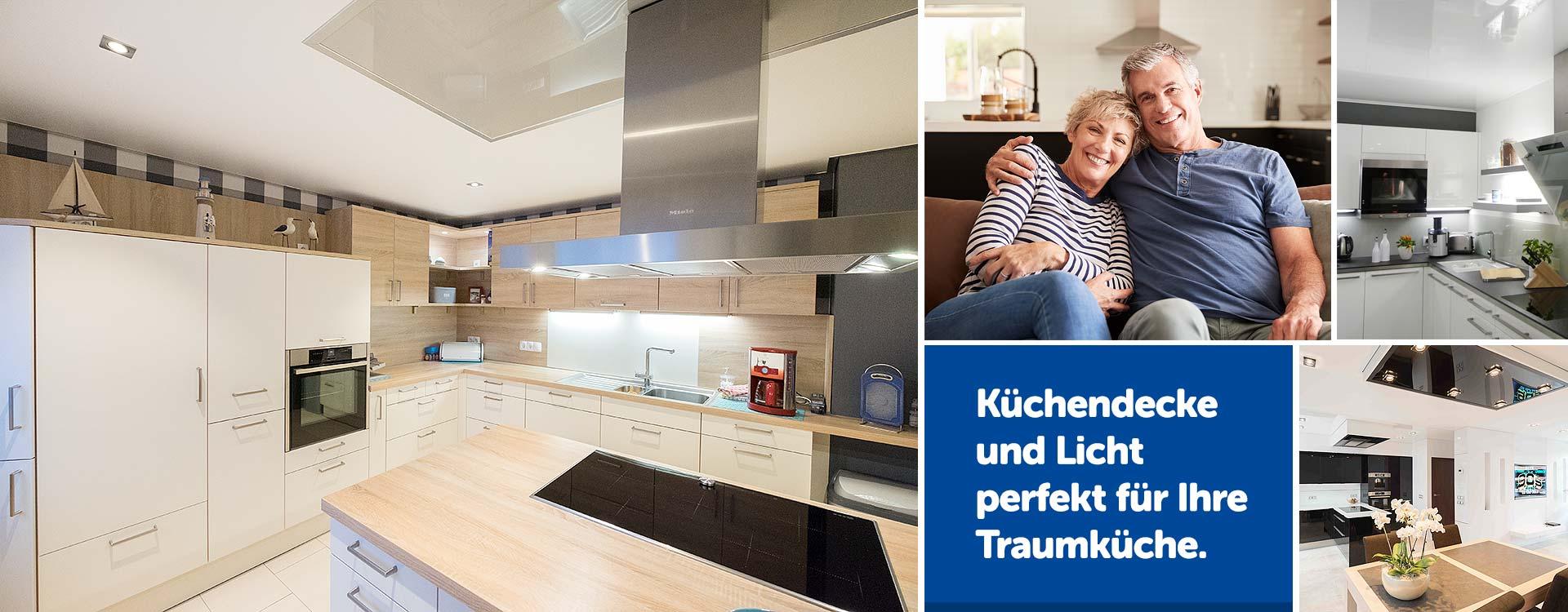 PLAMECO Küchendecke renovieren - Spanndecken in der Küche