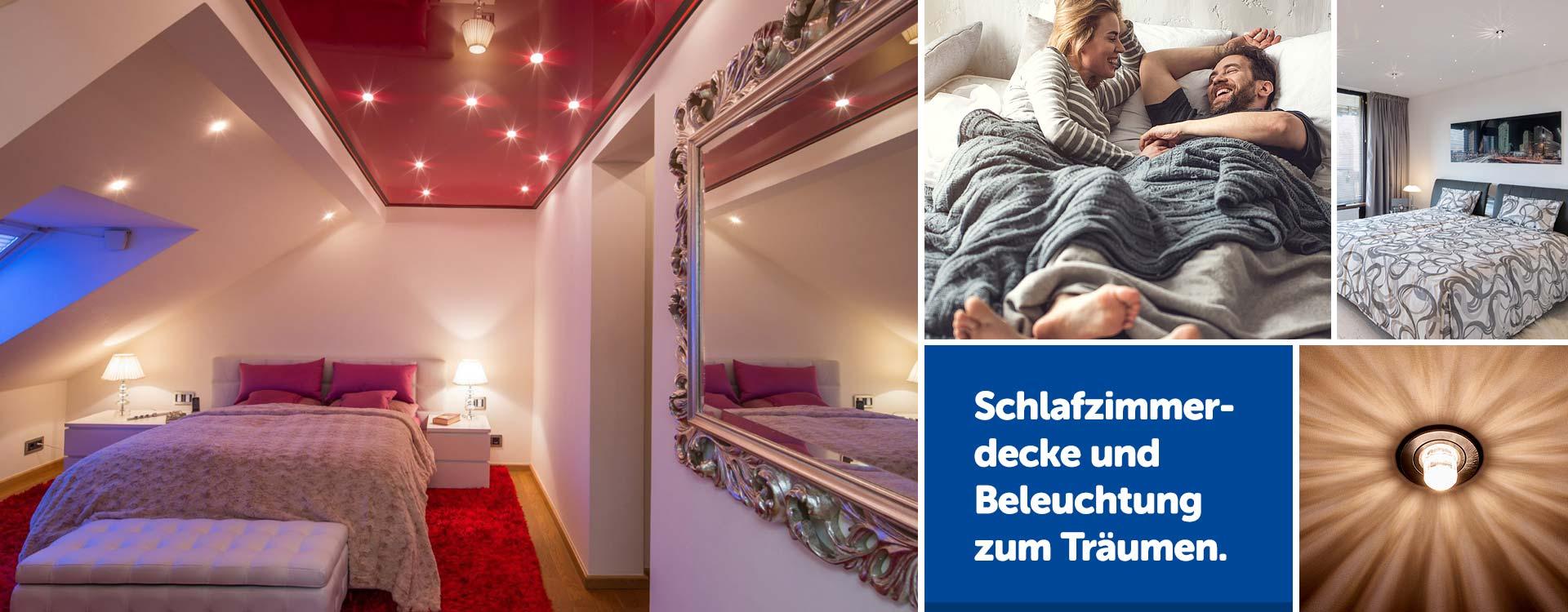 Schlafzimmerdecke renovieren mit PLAMECO Spanndecke in Siegen und Umgebung