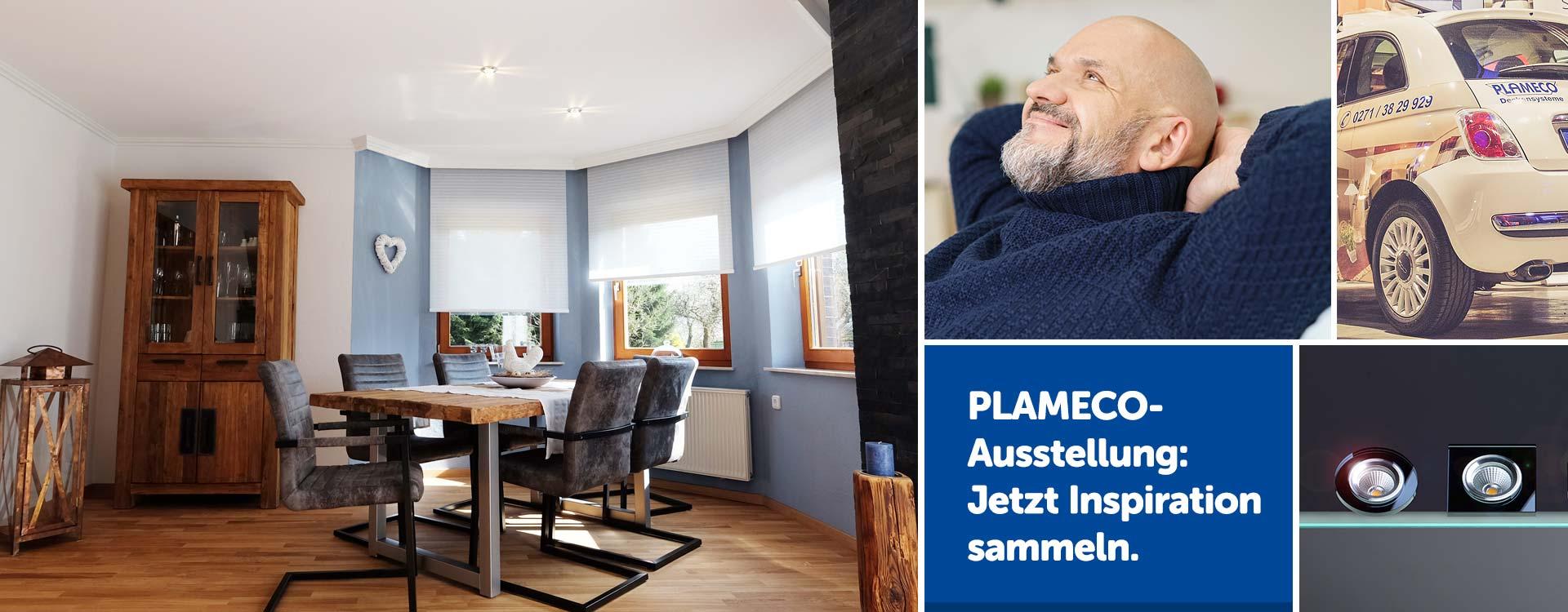 PLAMECO Spanndecken-Ausstellung Siegen Michael Bär