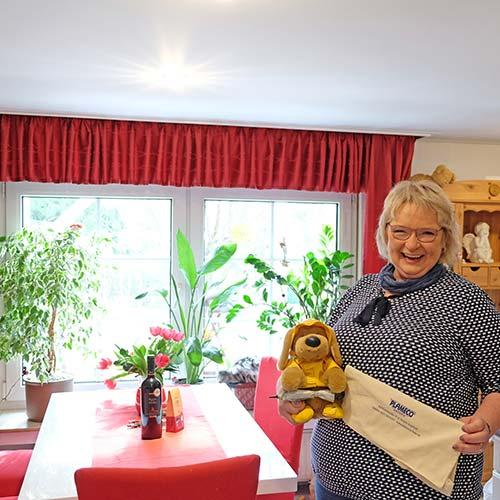 PLAMECO-Decken Freudenberg - Frau Setzer nach der Renovierung