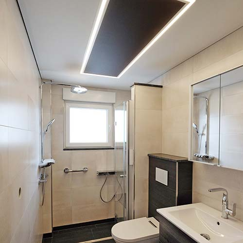 Badrenovierung in Erndtebrück mit LED-Beleuchtung von PLAMECO