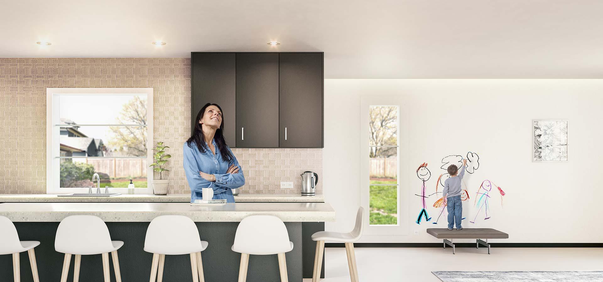 Plameco Decken Flur und Treppenhaus
