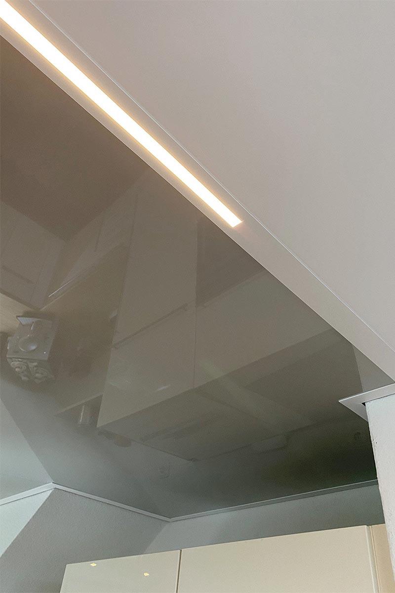 LED-Line passgenau über der Küchentheke installiert